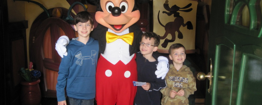 Boys with Mickey